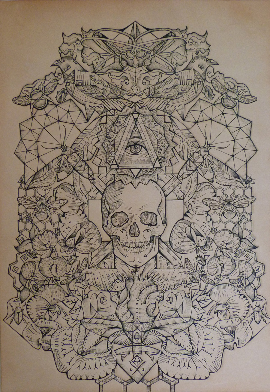 Image Result For Mandala Skull Coloring