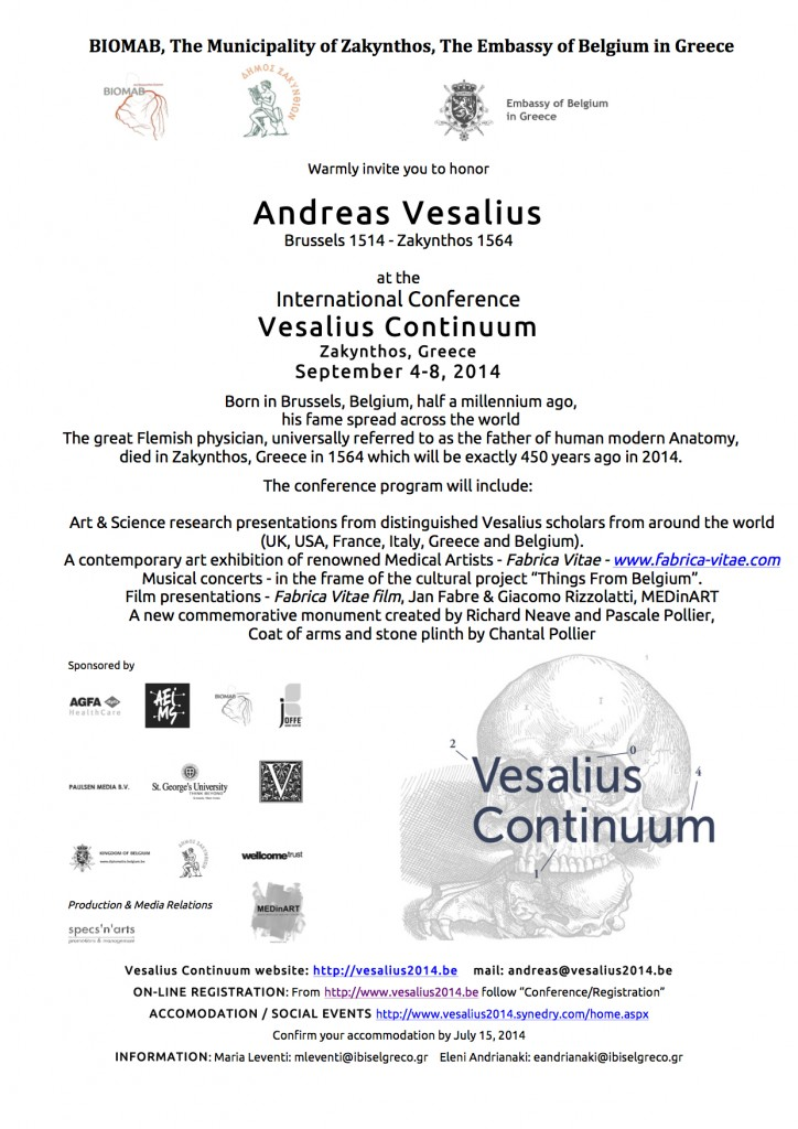 MEDinART in Vesalius Continuum (4-8 September 2014, Zakynthos, Greece)