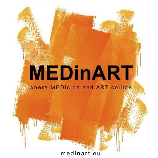MEDinART logo and website