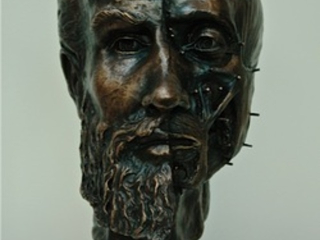 Purchase Andreas Vesalius bronze bust portrait to donate to Saint Louis University