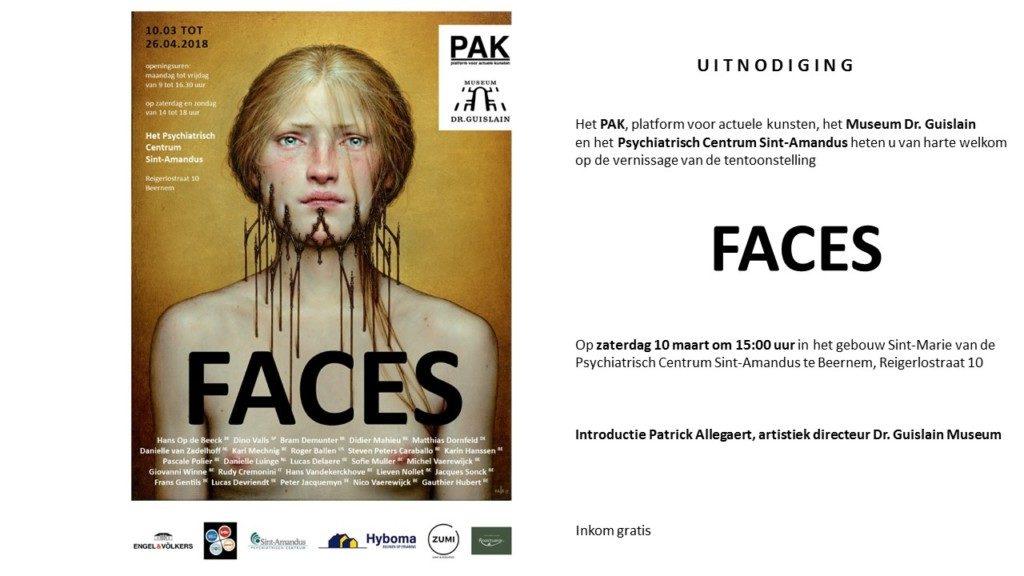 """FACES"": Exhibition. PCA Platform & Museum Dr. Guislain. Belgium. 10/03/18"