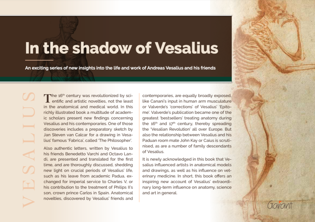 """""""In the Shadow of Vesalius"""" : A new book about the life and work of Andreas Vesalius"""